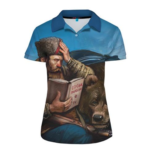 Женская рубашка поло 3D Медведь