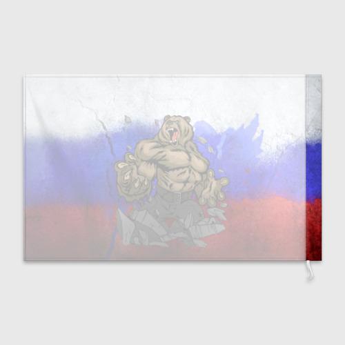 Флаг 3D Медведь Фото 01