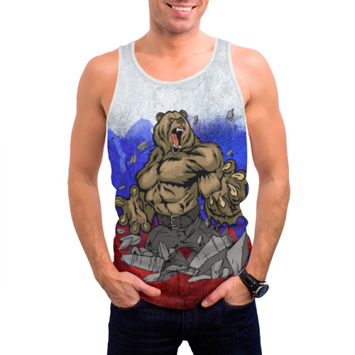 Мужская майка 3D Медведь