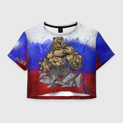 Женская футболка Cropp-top Медведь