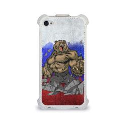 Чехол для Apple iPhone 4/4S flipМедведь