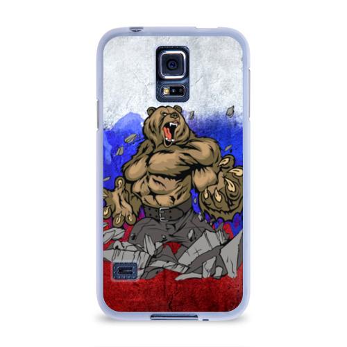 Чехол для Samsung Galaxy S5 силиконовый Медведь