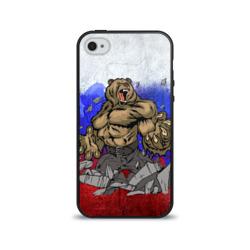 Чехол для Apple iPhone 4/4S силиконовый глянцевыйМедведь