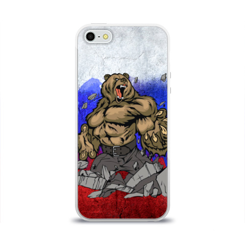 Чехол для Apple iPhone 5/5S силиконовый глянцевый Медведь