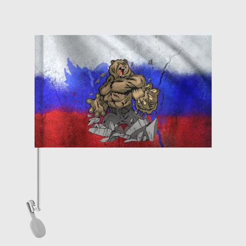 Флаг для автомобиля Медведь Фото 01