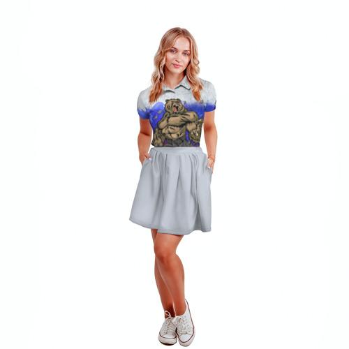 Женская рубашка поло 3D  Фото 04, Медведь