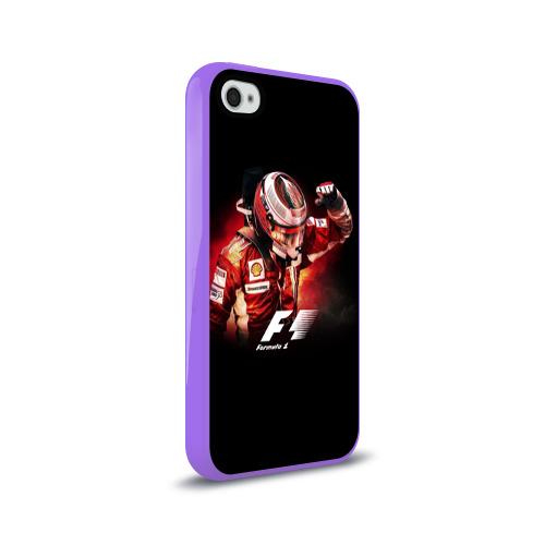 Чехол для Apple iPhone 4/4S силиконовый глянцевый  Фото 02, Формула 1