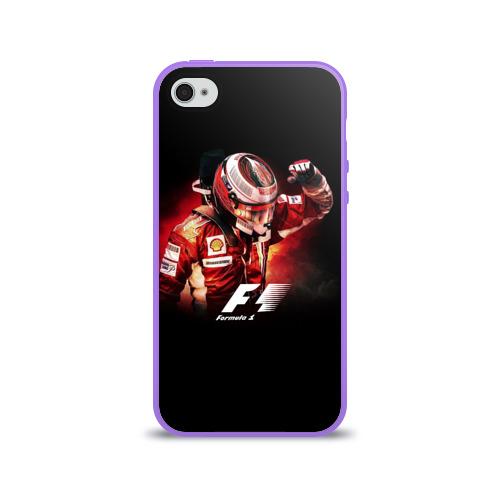 Чехол для Apple iPhone 4/4S силиконовый глянцевый  Фото 01, Формула 1