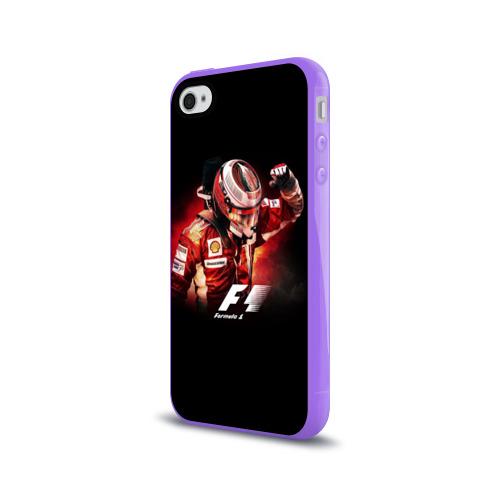 Чехол для Apple iPhone 4/4S силиконовый глянцевый  Фото 03, Формула 1