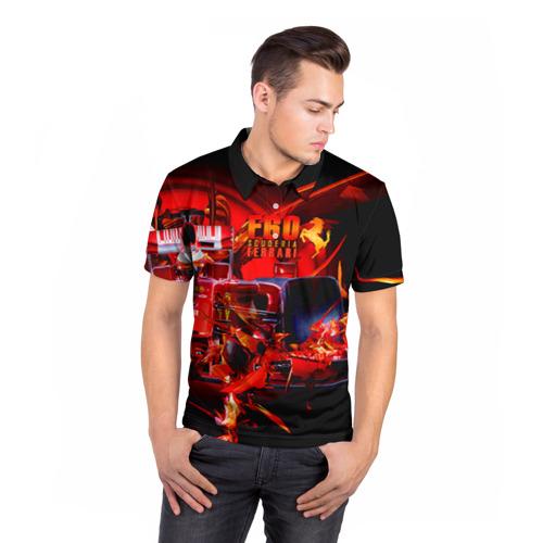 Мужская рубашка поло 3D Формула 1 Фото 01