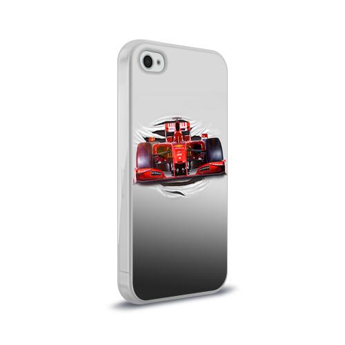 Чехол для Apple iPhone 4/4S силиконовый глянцевый  Фото 02, Гоночный балид