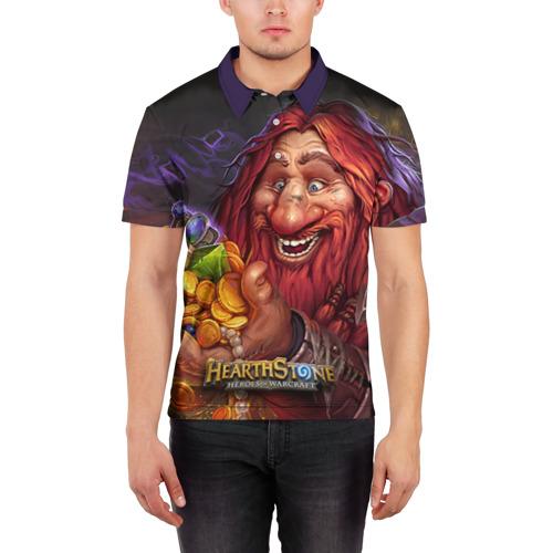 Мужская рубашка поло 3D Hearthstone Фото 01
