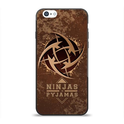 Чехол для Apple iPhone 6 силиконовый глянцевый Ninjas In Pyjamas Фото 01