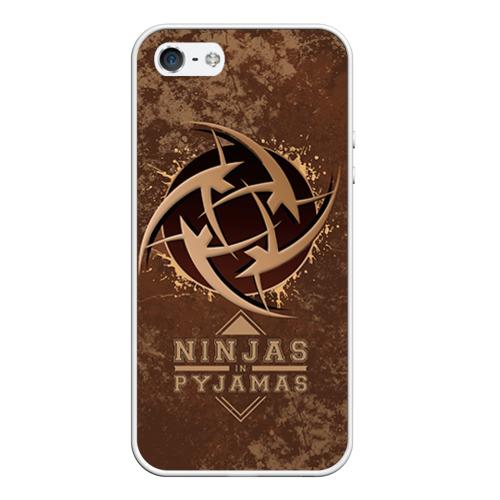 Чехол для Apple iPhone 5/5S силиконовый Ninjas In Pyjamas от Всемайки