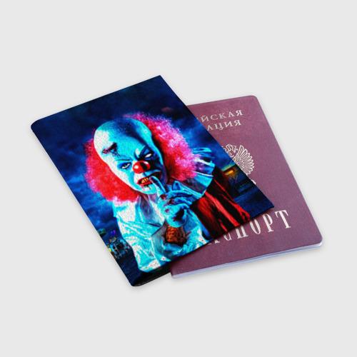 Обложка для паспорта матовая кожа  Фото 03, Клоун