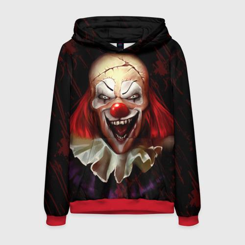 Мужская толстовка 3D Зомби клоун Фото 01