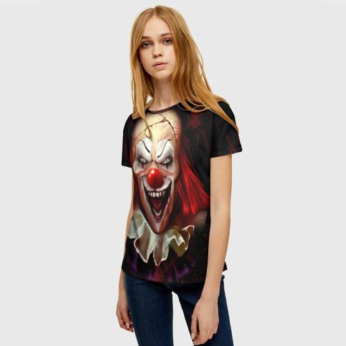 Женская футболка 3D Зомби клоун Фото 01