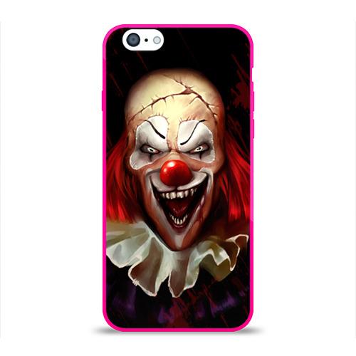 Чехол для Apple iPhone 6 силиконовый глянцевый Зомби клоун Фото 01
