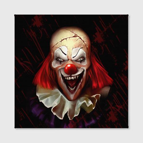 Холст квадратный Зомби клоун Фото 01