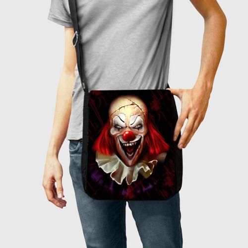 Сумка через плечо Зомби клоун Фото 01