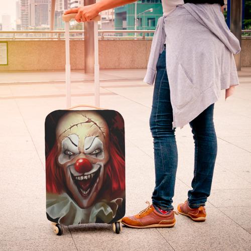 Чехол для чемодана 3D  Фото 04, Зомби клоун