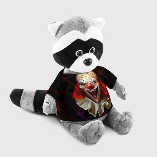 Енотик в футболке 3D Зомби клоун Фото 01