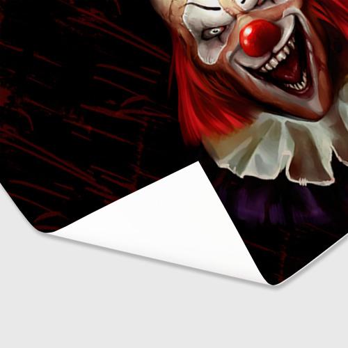 Бумага для упаковки 3D Зомби клоун Фото 01