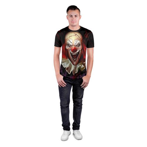 Мужская футболка 3D спортивная Зомби клоун Фото 01