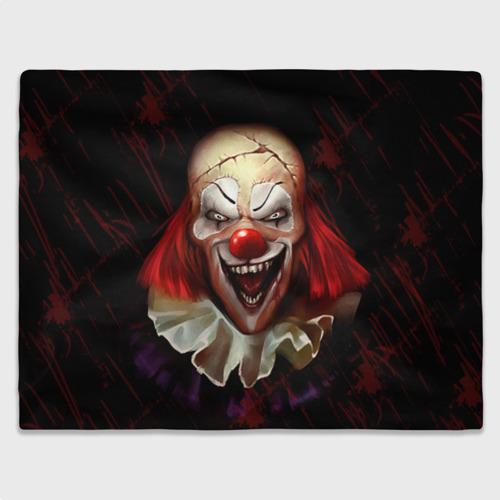 Плед 3D Зомби клоун Фото 01