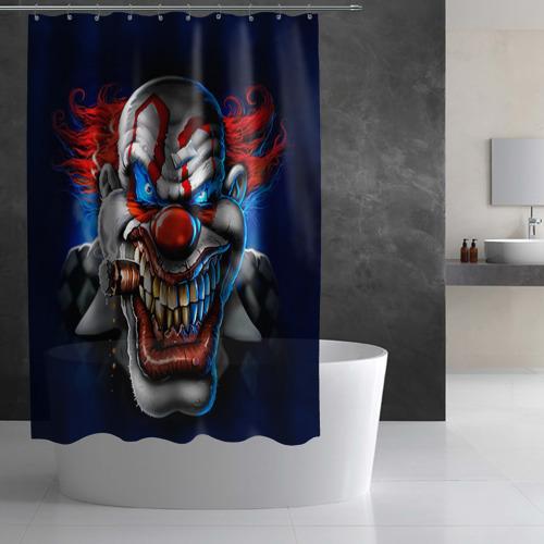 Штора 3D для ванной  Фото 02, Клоун
