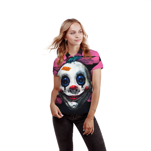 Женская рубашка поло 3D  Фото 03, Клоун