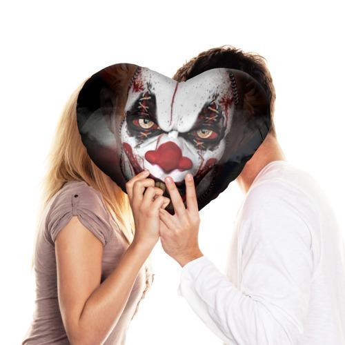 Подушка 3D сердце  Фото 03, Зомби клоун
