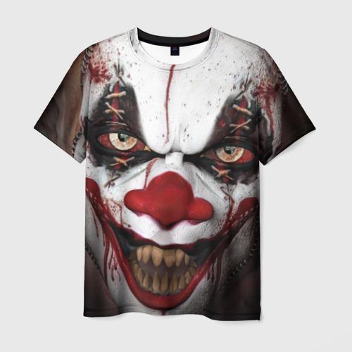 Мужская футболка 3D Зомби клоун Фото 01