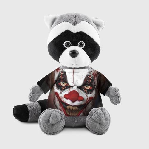 Енотик в футболке 3D  Фото 01, Зомби клоун