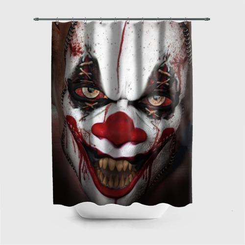 Штора для ванной Зомби клоун от Всемайки