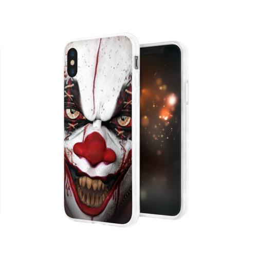 Чехол для Apple iPhone X силиконовый глянцевый  Фото 03, Зомби клоун