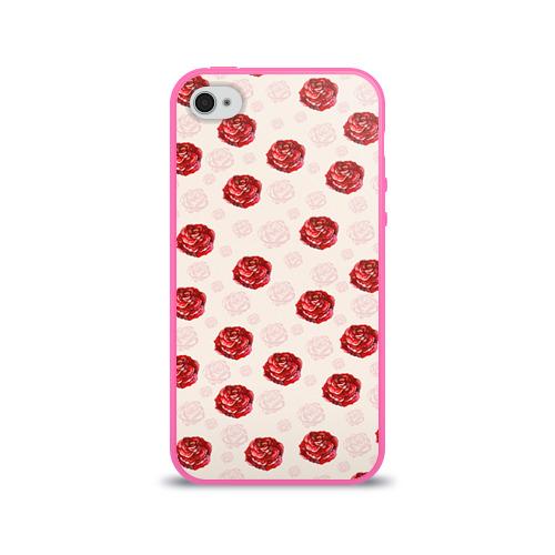 Чехол для Apple iPhone 4/4S силиконовый глянцевый  Фото 01, Розы