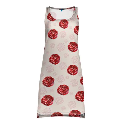 Платье-майка 3D Розы