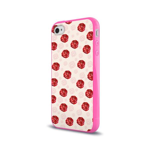 Чехол для Apple iPhone 4/4S силиконовый глянцевый  Фото 03, Розы