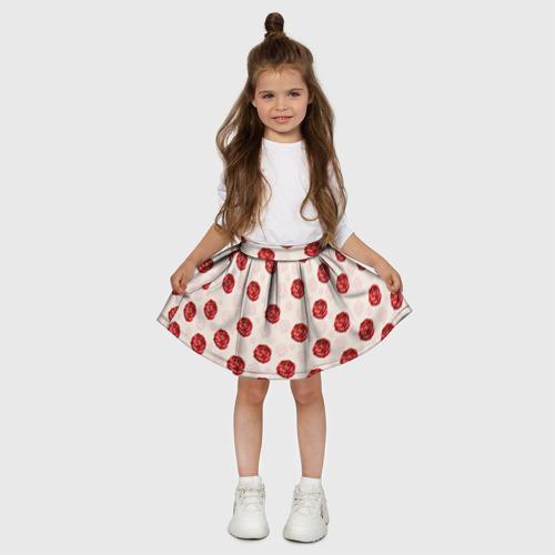 Детская юбка-солнце 3D  Фото 03, Розы