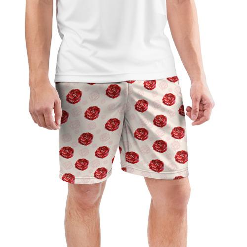 Мужские шорты 3D спортивные  Фото 03, Розы