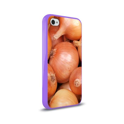 Чехол для Apple iPhone 4/4S силиконовый глянцевый  Фото 02, Лук-лучок