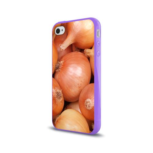 Чехол для Apple iPhone 4/4S силиконовый глянцевый  Фото 03, Лук-лучок