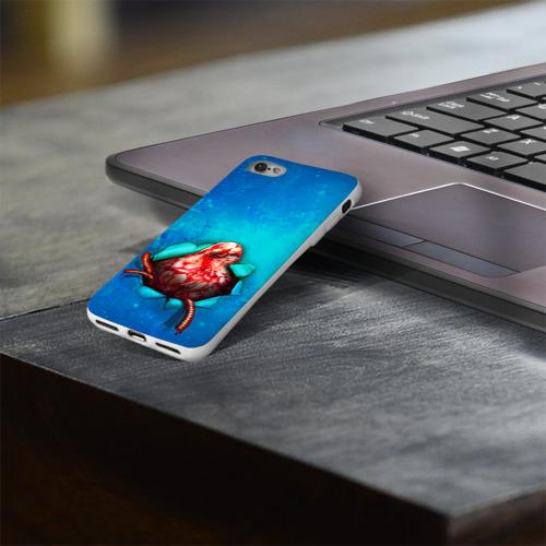Чехол для Apple iPhone 8 силиконовый глянцевый  Фото 03, Чужой