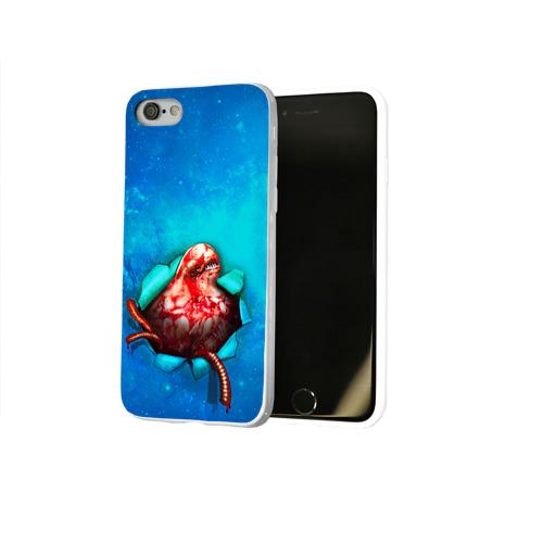Чехол для Apple iPhone 8 силиконовый глянцевый  Фото 02, Чужой