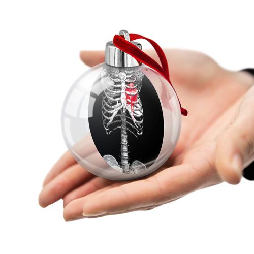 Ёлочный шар  Фото 02, Скелет с сердцем