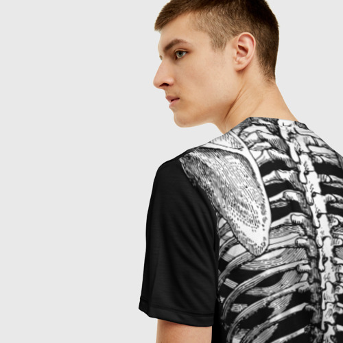 Мужская футболка 3D Скелет с сердцем Фото 01