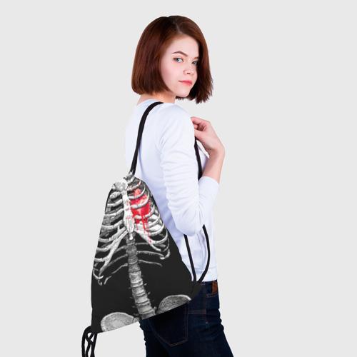 Рюкзак-мешок 3D  Фото 02, Скелет с сердцем