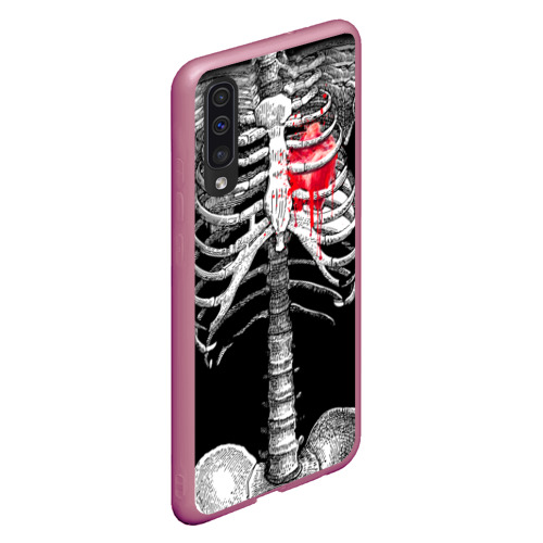 Чехол для Samsung A50 Скелет с сердцем Фото 01