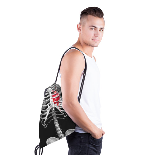 Рюкзак-мешок 3D  Фото 03, Скелет с сердцем